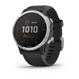 Мультиспортивные часы garmin fenix 6s solar gps, серебр. с черным ремешком. Артикул: 010-02409-00