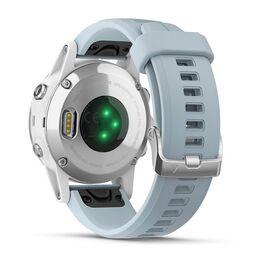 Мультиспортивные часы Garmin Fenix 5S PLUS Glass серебр./черн. с голуб. ремешком (010-01987-23) #6