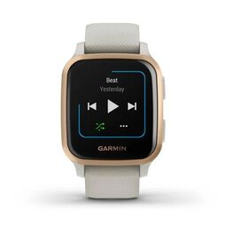 Смарт-часы Garmin Venu Sq NFC Music с золотистым безелем и песочным ремешком (010-02426-11) #2
