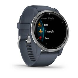Смарт-часы Garmin Venu 2, Wi-Fi, GPS, синий гранит с силиконовым ремешком (010-02430-10) #1