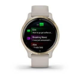 Смарт-часы Garmin Venu 2S, Wi-Fi, GPS, песочные, золото, с силиконовым ремешком (010-02429-11) #1
