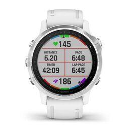 Мультиспортивные часы Garmin Fenix 6S с GPS, серебристые с белым ремешком (010-02159-00) #5