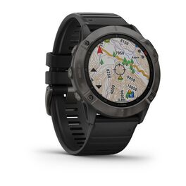 Мультиспортивные часы Garmin Fenix 6X Sapphire с GPS, серые с черным ремешком (010-02157-11) #2
