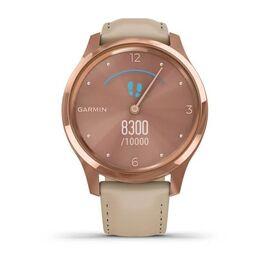Часы с трекером активности Garmin VivoMove Luxe роз. золото PVD 18K с кожан. ремешком (010-02241-21) #3