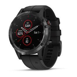Мультиспортивные часы Garmin Fenix 5 PLUS Sapphire RUSSIA черные с черным ремешком (010-01988-15) #1