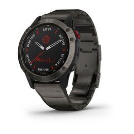 Мультиспортивные часы garmin fenix 6 pro solar с gps, титан. dlc титан.ремешком. Артикул: 010-02410-23