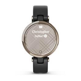 Фэшн смарт-часы Garmin Lily CreamGold Black Leather (010-02384-B1) #3