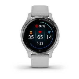 Смарт-часы Garmin Venu 2S, Wi-Fi, GPS, серебристые с силиконовым ремешком (010-02429-12) #7