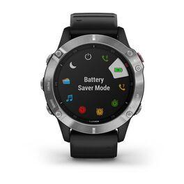 Мультиспортивные часы Garmin Fenix 6 с GPS, серебристые с черным ремешком (010-02158-00) #3