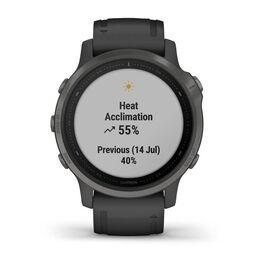 Мультиспортивные часы Garmin Fenix 6S Sapphire с GPS, серые с черным ремешком (010-02159-25) #7