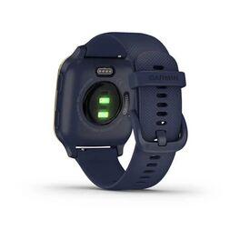 Смарт-часы Garmin Venu Sq NFC Music с золотистым безелем и синим ремешком (010-02426-12) #5
