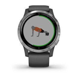 Смарт часы Garmin Vivoactive 4 серые с серебристым безелем (010-02174-03) #5