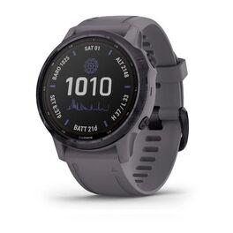 Мультиспортивные часы garmin fenix 6s pro solar gps, аметистовый с темно-серым ремешк. Артикул: 010-02409-15