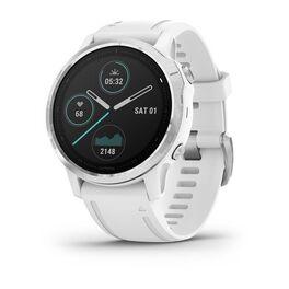 garmin fenix 6s часы с gps, серебристые с белым ремешком. Артикул: 010-02159-00