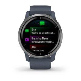 Смарт-часы Garmin Venu 2, Wi-Fi, GPS, синий гранит с силиконовым ремешком (010-02430-10) #2