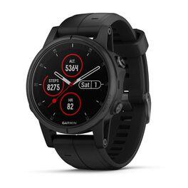 garmin fenix 5s plus sapphire часы с gps черные с черным ремешком. Артикул: 010-01987-03