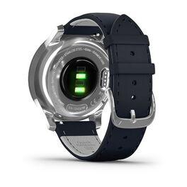 Часы с трекером активности Garmin VivoMove Luxe серебр. с итал. кож. синим ремешком (010-02241-20) #5