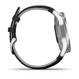 Часы с трекером активности Garmin VivoMove Luxe серебр. с итал. кож. синим ремешком (010-02241-20) #4
