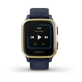 Смарт-часы Garmin Venu Sq NFC Music с золотистым безелем и синим ремешком (010-02426-12) #2