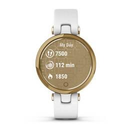 Фэшн смарт-часы Garmin Lily LightGold White Leather (010-02384-B3) #6
