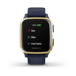 Смарт-часы Garmin Venu Sq NFC Music с золотистым безелем и синим ремешком (010-02426-12) #4