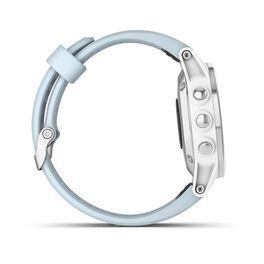 Мультиспортивные часы Garmin Fenix 5S PLUS Glass серебр./черн. с голуб. ремешком (010-01987-23) #4