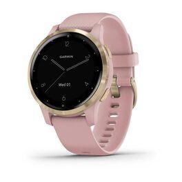 Смарт часы garmin vivoactive 4s розовые с золотистым безелем. Артикул: 010-02172-33