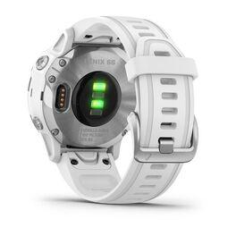Мультиспортивные часы Garmin Fenix 6S с GPS, серебристые с белым ремешком (010-02159-00) #8