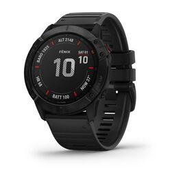 Мультиспортивные часы garmin fenix 6x pro с gps, черные с черным ремешком. Артикул: 010-02157-01