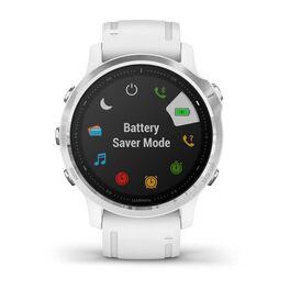 Мультиспортивные часы Garmin Fenix 6S с GPS, серебристые с белым ремешком (010-02159-00) #3