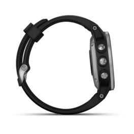 Мультиспортивные часы Garmin Fenix 5S PLUS Glass серебр. с черным ремешком (010-01987-21) #2