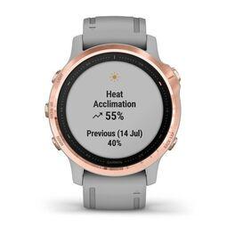 Мультиспортивные часы Garmin Fenix 6S Sapphire с GPS, розов.золото с серым ремешком (010-02159-21) #7