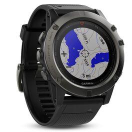 Мультиспортивные часы Garmin Fenix 5X Sapphire с GPS, серые с черным ремешком (010-01733-01) #1