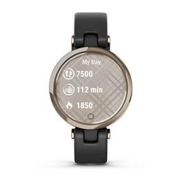 Фэшн смарт-часы Garmin Lily CreamGold Black Leather (010-02384-B1) #6