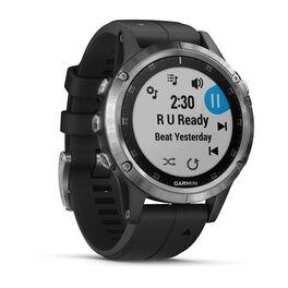Мультиспортивные часы Garmin Fenix 5 PLUS Glass RUSSIA серебристые с черным ремешком (010-01988-17) #2
