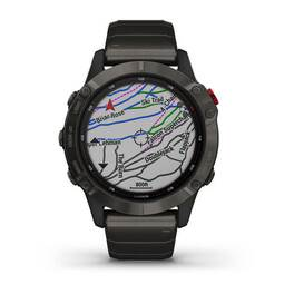 Мультиспортивные часы Garmin Fenix 6 Pro Solar с GPS, титан. DLC титан.ремешком (010-02410-23) #4