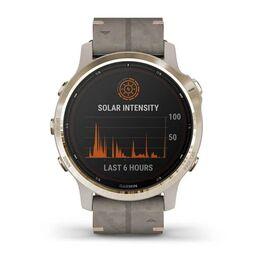 Мультиспортивные часы Garmin Fenix 6S Pro Solar GPS, золотист. с серым замш. ремешком (010-02409-26) #7