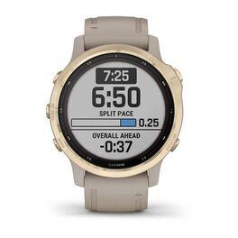 Мультиспортивные часы Garmin Fenix 6S Pro Solar GPS, золотистый с песочным ремешком (010-02409-11) #2