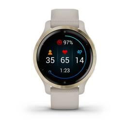 Смарт-часы Garmin Venu 2S, Wi-Fi, GPS, песочные, золото, с силиконовым ремешком (010-02429-11) #7