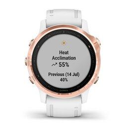 Мультиспортивные часы Garmin Fenix 6S PRO с GPS, розов.золото с белым ремешком (010-02159-11) #7