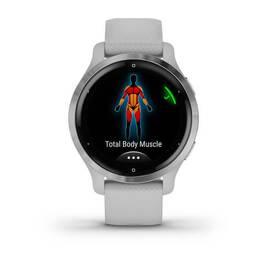 Смарт-часы Garmin Venu 2S, Wi-Fi, GPS, серебристые с силиконовым ремешком (010-02429-12) #3