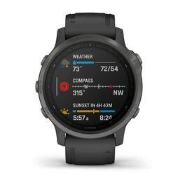 Мультиспортивные часы Garmin Fenix 6S Sapphire с GPS, серые с черным ремешком (010-02159-25) #3