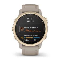 Мультиспортивные часы Garmin Fenix 6S Pro Solar GPS, золотистый с песочным ремешком (010-02409-11) #6