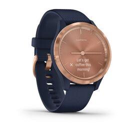 Часы с трекером активности Garmin VivoMove 3S, роз. золото с темно-синим ремешком (010-02238-23) #2