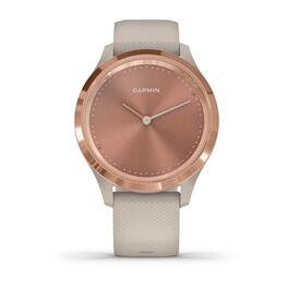 Часы с трекером активности Garmin VivoMove 3S, розовое золото с песочным ремешком (010-02238-22) #1