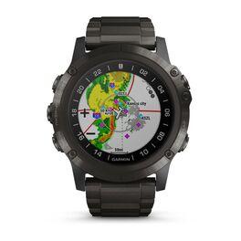 Навигатор-часы для пилотов Garmin D2 delta PX с титановым ремешком (010-01989-31) #1