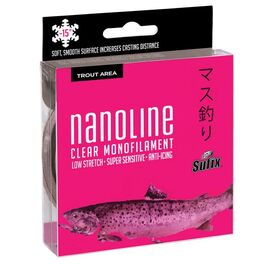 Леска SUFIX Nanoline Trout 150м прозрачная 0,16мм 2,5кг. Артикул: SNL16C150