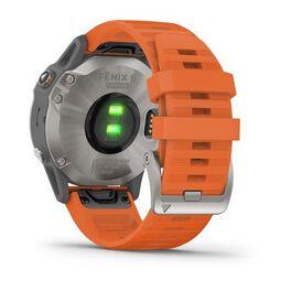 Мультиспортивные часы Garmin Fenix 6 Sapphire с GPS, титановый с оранжевым ремешком (010-02158-14) #8