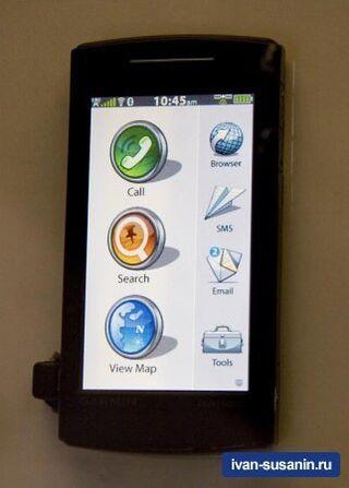 GPS телефон Garmin Nuvifone - очередная порция подробностей