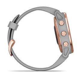 Мультиспортивные часы Garmin Fenix 6S Sapphire с GPS, розов.золото с серым ремешком (010-02159-21) #4